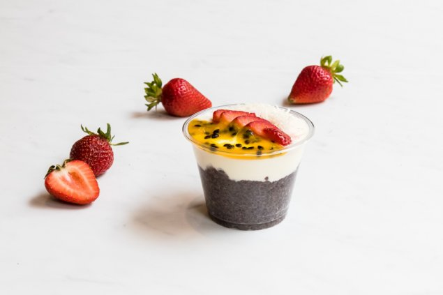 Chia Pudding Cups with Coconut Yoghurt & Mixed Berries [GF][VG]